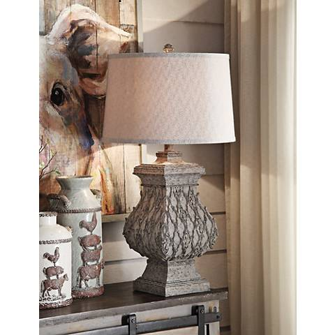 Crestview Collection Madelyn Tarnished Metal Table Lamp