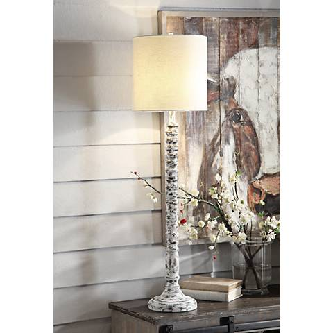 Crestview Collection Sarah White Wash Table Lamp