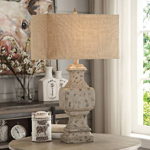 Crestview Collection Willow Antique Wood Table Lamp