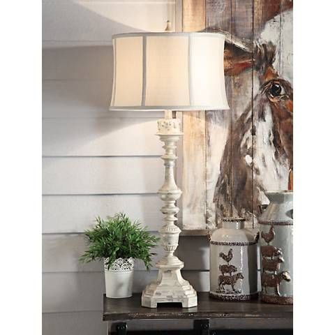 Crestview Collection Addison Spanish White Table Lamp