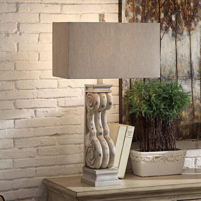 Crestview Collection Serenity Tarnished Blonde Table Lamp