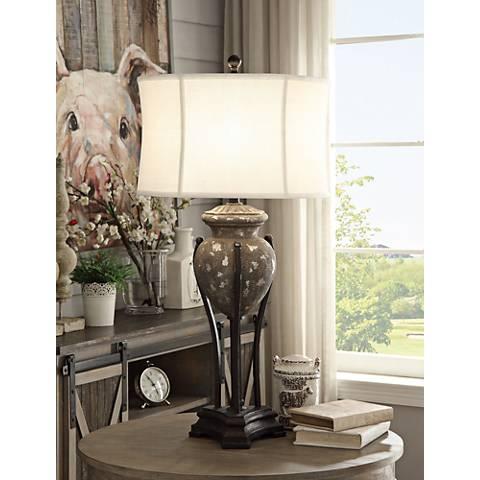 Crestview Collection Julia Turkey Bronze Table Lamp