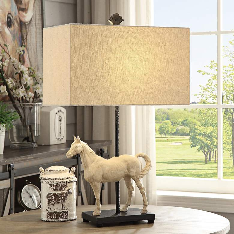 Chase Bleached White and Black Table Lamp