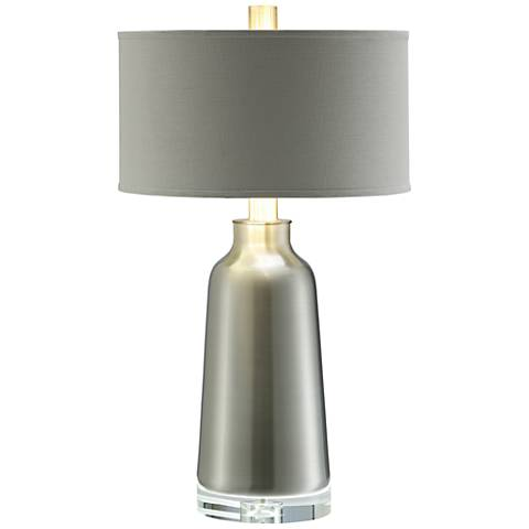 Crestview Collection Lane Aluminum and Crystal Table Lamp