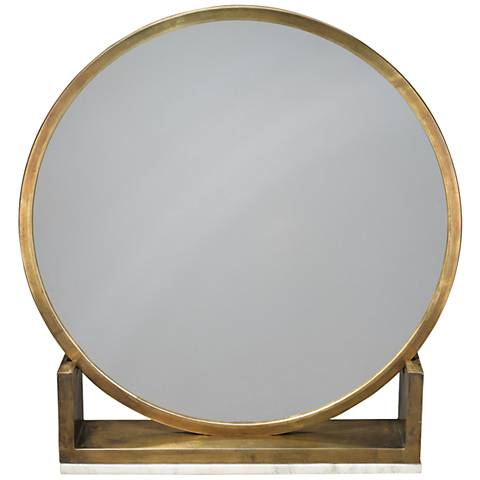 Jamie Young Odyssey Antique Brass Standing Mirror