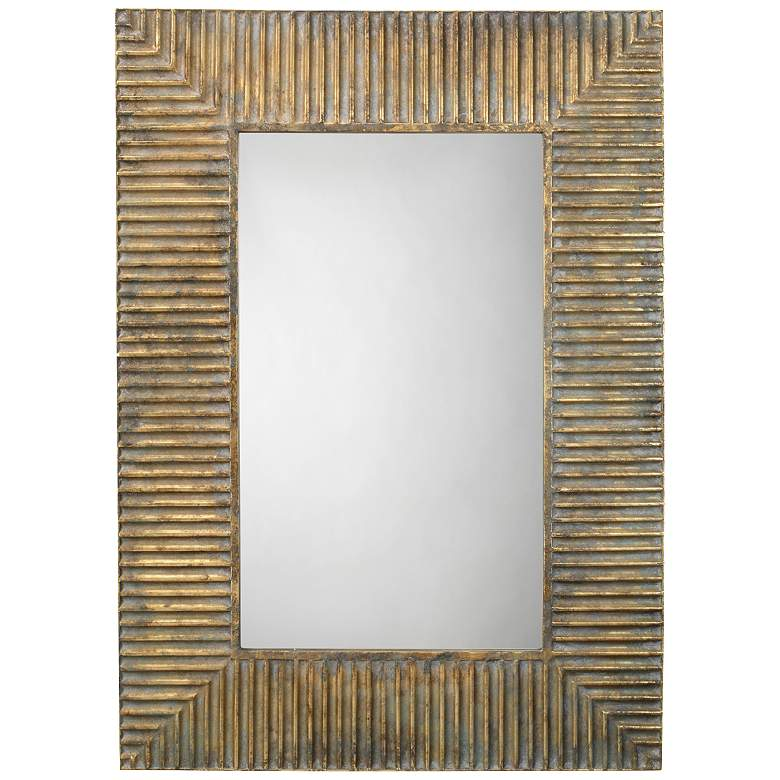 "Jamie Young Slatted Antique Brass 29"" x 41"""