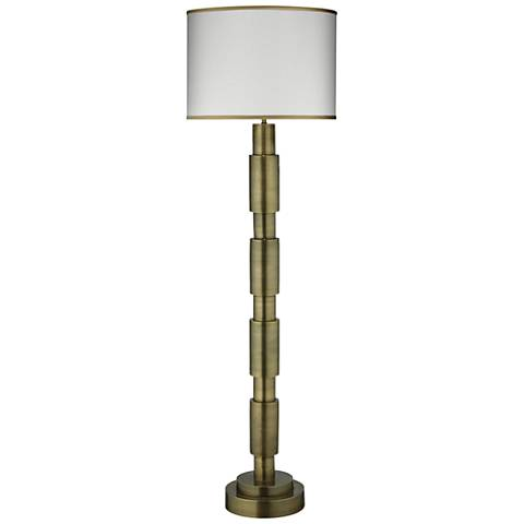 Jamie Young Quinn Antique Brass Metal Floor Lamp