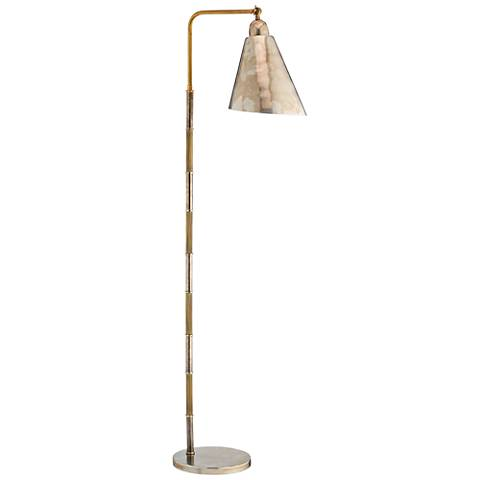 Jamie young vilhelm antique silver and brass floor lamp 39y10 jamie young vilhelm antique silver and brass floor lamp aloadofball Images