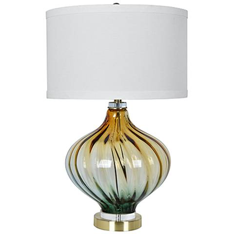 Amelia Champagne Twisted Glass Table Lamp