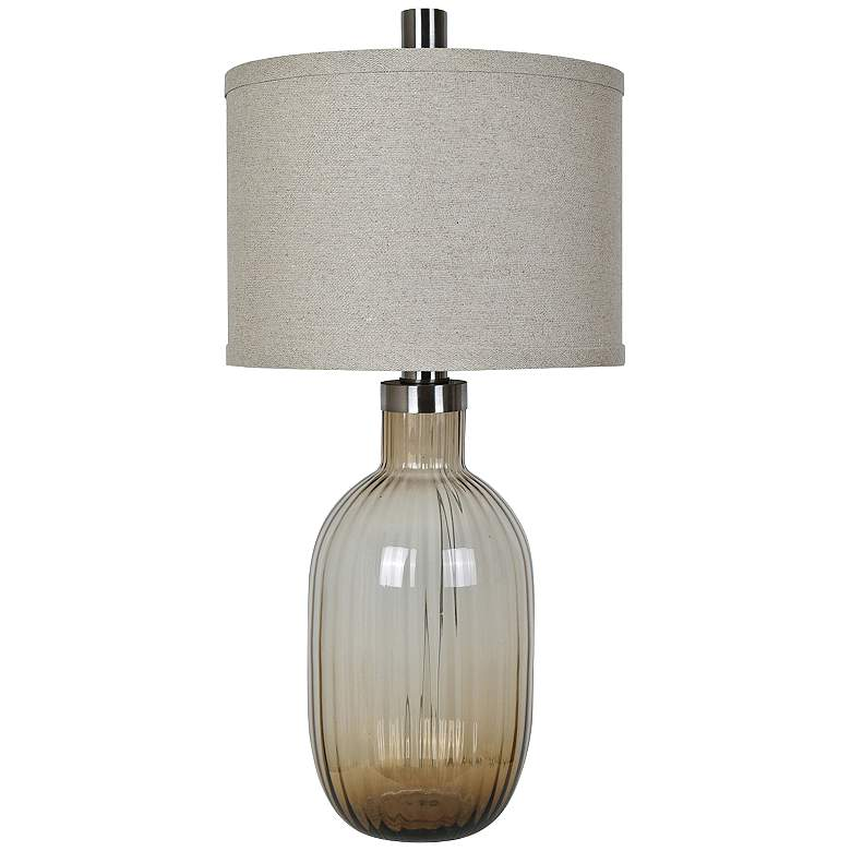 Crestview Collection Oliver Toasted Glass Table Lamp