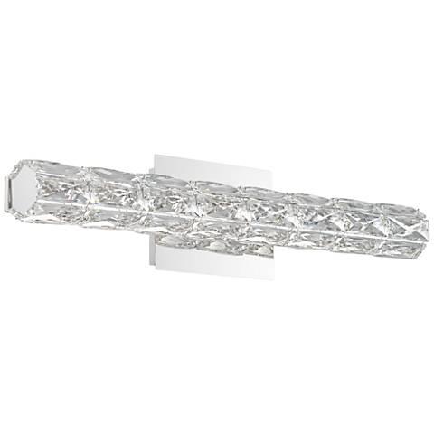 """Evie 24"""" Wide Chrome and Crystal LED Bath Bar Light"""