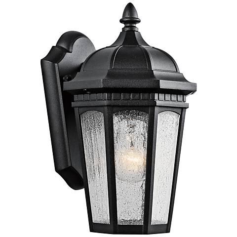 "Kichler Courtyard 11"" High Black Outdoor Wall Light"