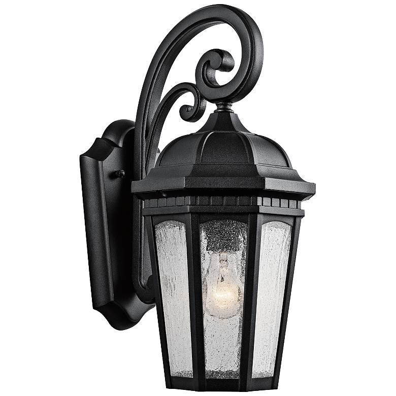 "Kichler Courtyard 17 3/4"" High Black Outdoor Wall Light"