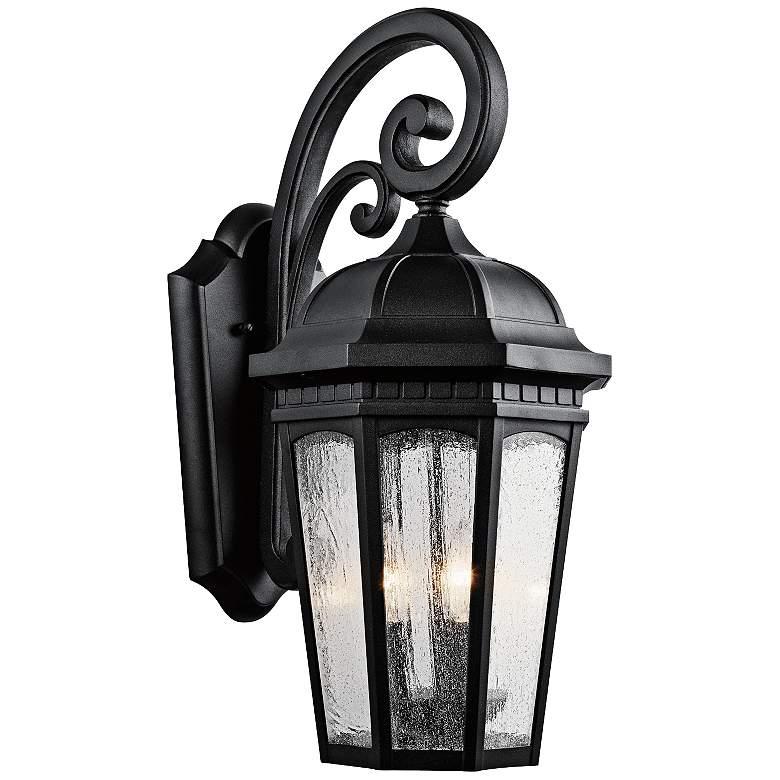 "Kichler Courtyard 22 1/4"" High Black Outdoor Wall Light"