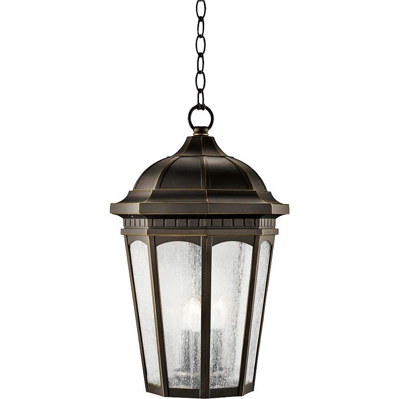 """Kichler Courtyard Rubbed 21 1/2""""H Outdoor Hanging Light"""