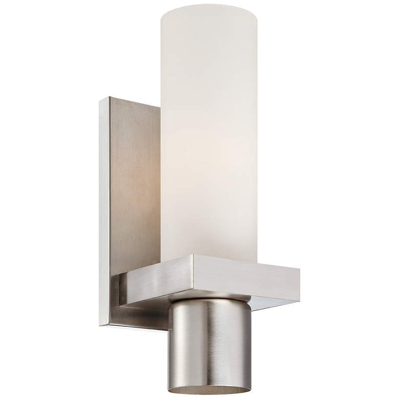 "Pillar Collection 11 1/2"" High Brushed Nickel Wall Sconce"