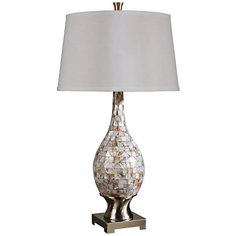 Uttermost Madre Mother Of Pearl Mosaic Table Lamp