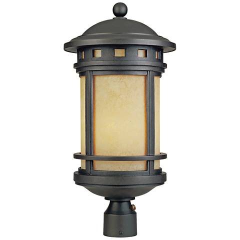 "Sedona 23"" High 18 Watt CFL Oil Bronze Outdoor Post Light"
