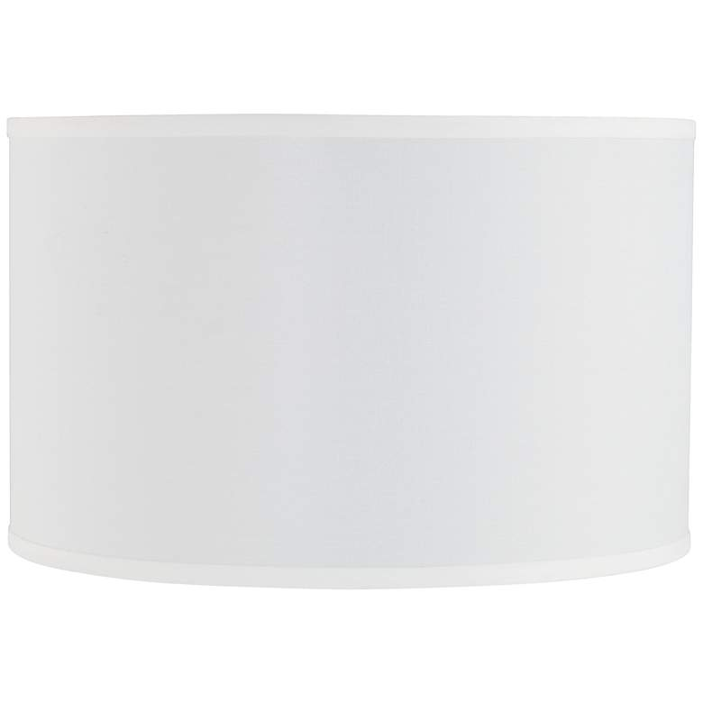 3C597 - Off-White Shantung Linen Drum Lamp Shade