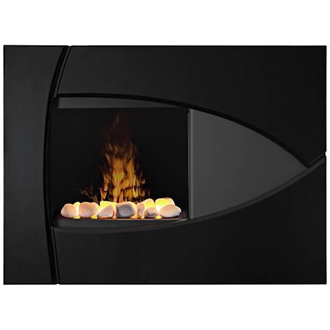 Brayden Gloss Black Wall-Mount Electric Fireplace