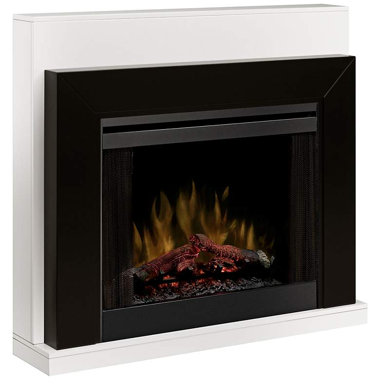 Ebony Black Mantel Electric Fireplace with Romote Control
