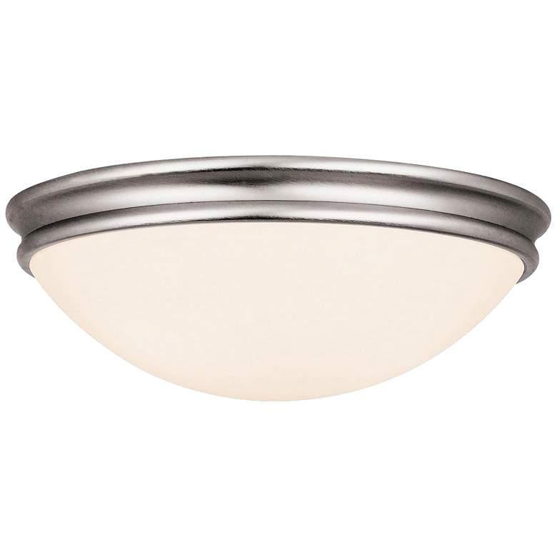 "Access Atom 14"" Wide Brushed Steel LED Ceiling Light"