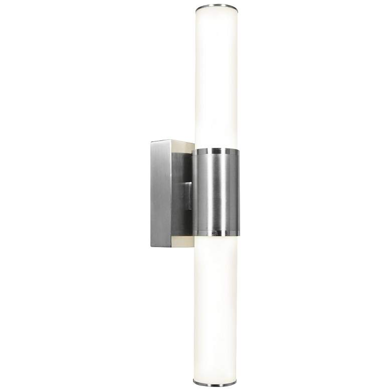 "Access Aqueous 21 1/10"" High Brushed Steel LED Wall Light"