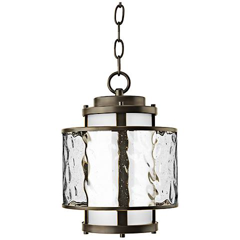 "Bay Court 12 3/4"" High Antique Bronze Outdoor Hanging Light"