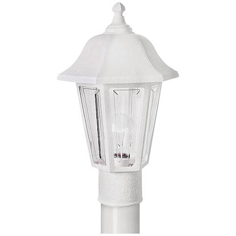 Brentwood White Outdoor Post Mount Light