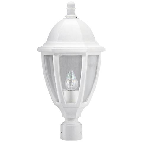 "Everstone 21 3/4"" High White Outdoor Post Lantern"