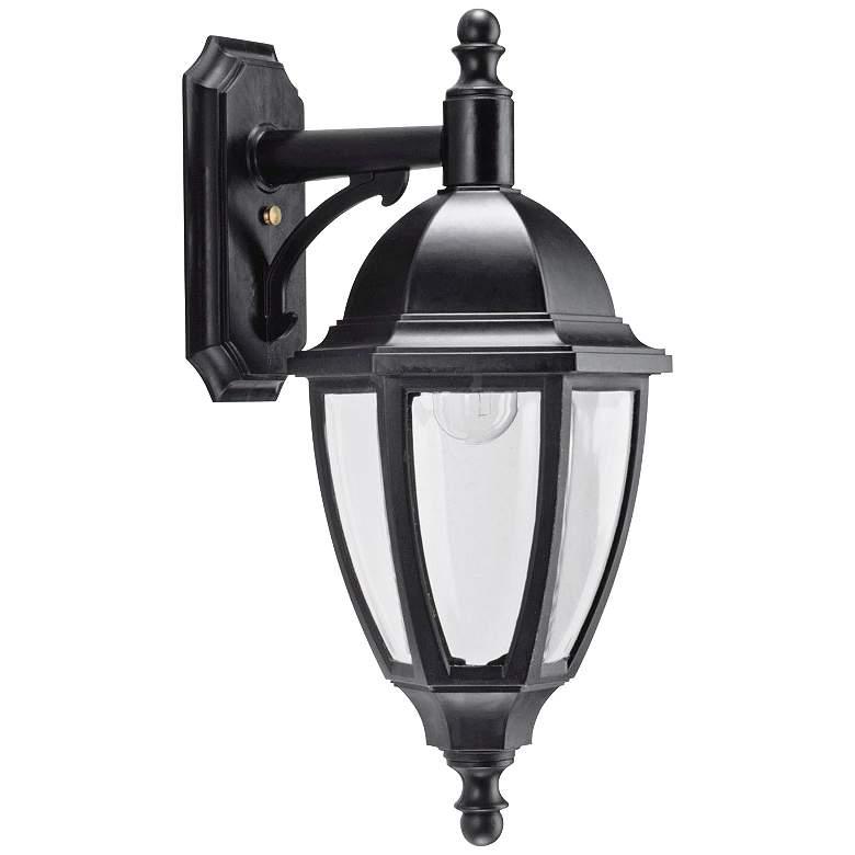 "Everstone 23 1/4"" High 100W Black Outdoor Wall Lantern"