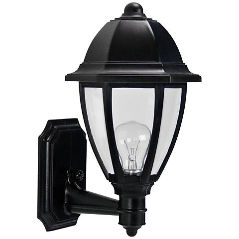 "Everstone 15"" High Black Outdoor Wall Lantern"