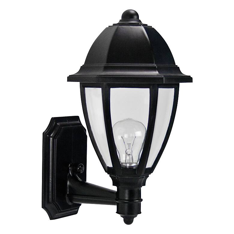 "Everstone 15"" High Black Outdoor Wall Lantern"