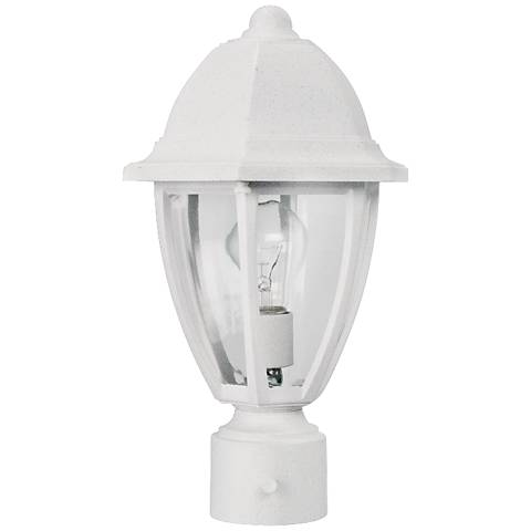"Everstone 14 3/4"" High White Outdoor Post Lantern"