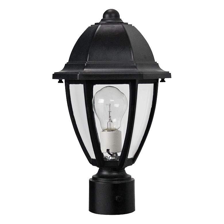 "Everstone 14 3/4"" High Black Outdoor Post Lantern"