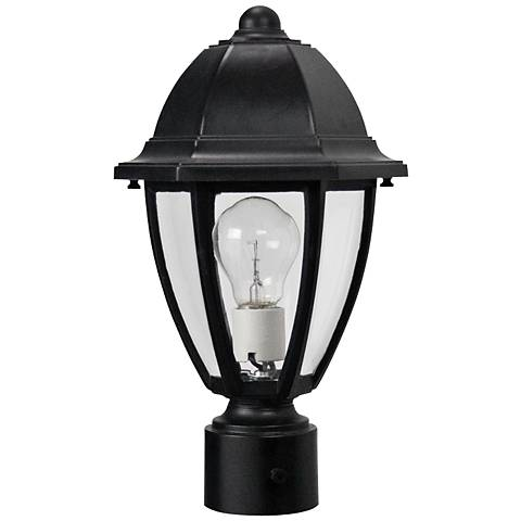 "Everstone 14 3/4"" High Black Outdoor Post Lantern"