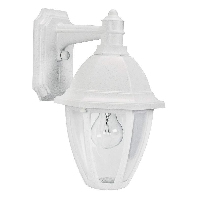 "Everstone 13 3/4"" High White Outdoor Wall Lantern"