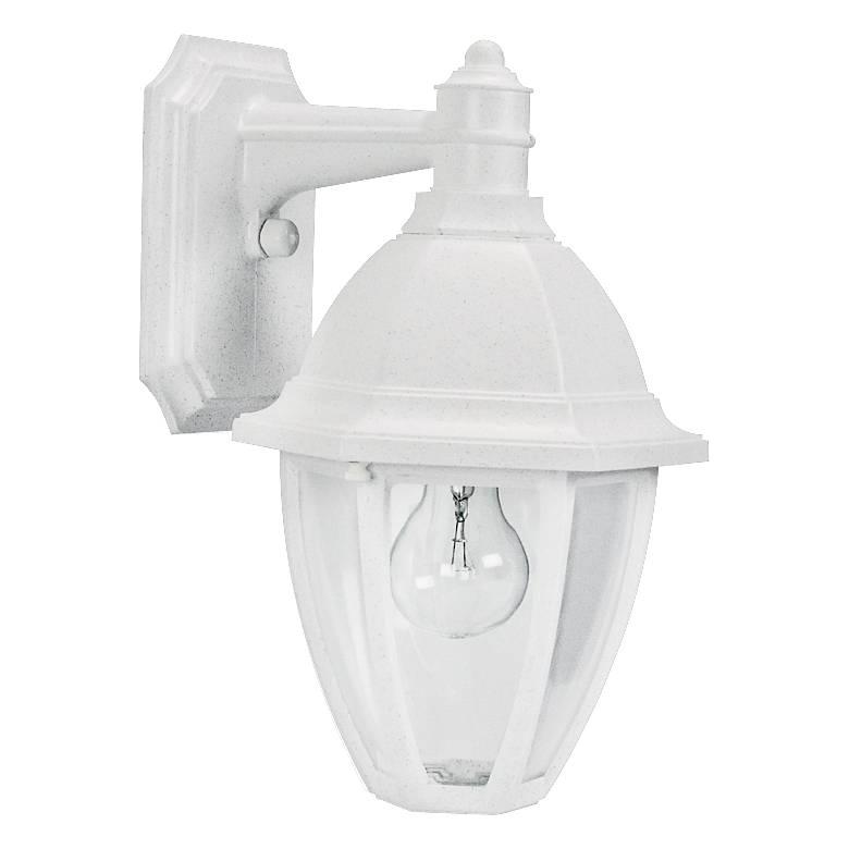 "Everstone 13 3/4"" High White Outdoor Wall Lantern"