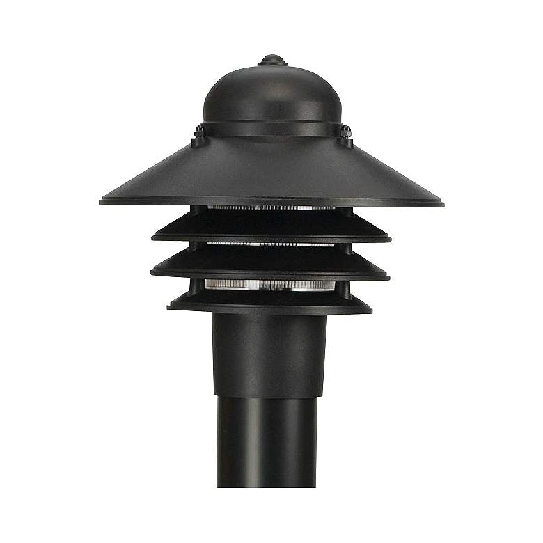 """Marlex Nautical 10"""" High Black Outdoor Post Light"""
