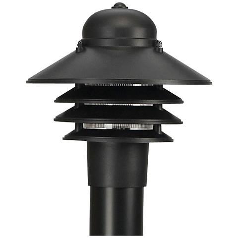 Marlex Nautical 10 High Black Outdoor Post Light