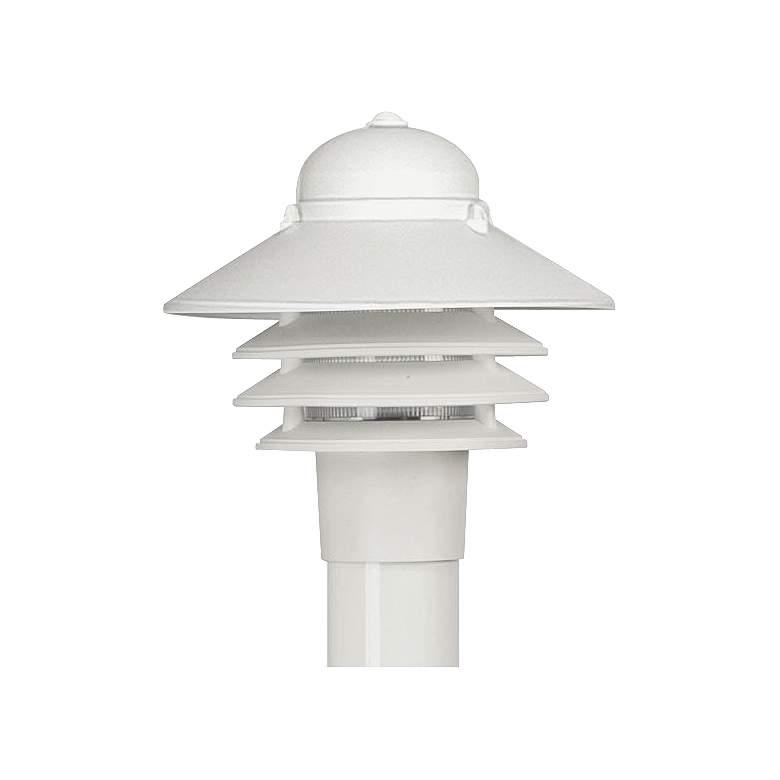 "Marlex Nautical 10"" High White Outdoor Post Light"