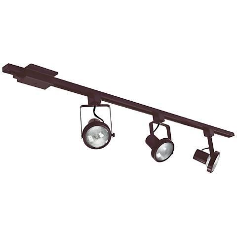 Nora Bronze Gimbal Ring 3-Light Track Kit