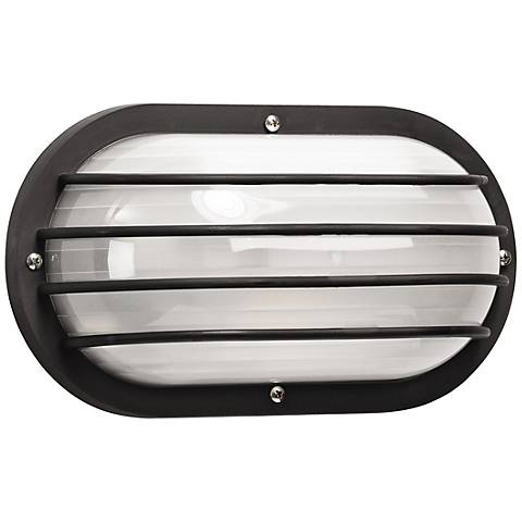 Wave Nautical Bulk Head Black Outdoor Wall Light