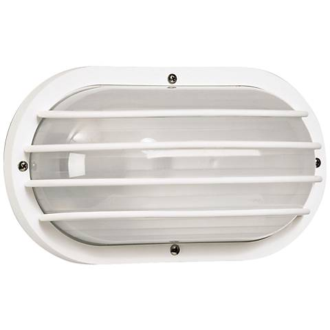 Wave Nautical Bulk Head White Outdoor Wall Light