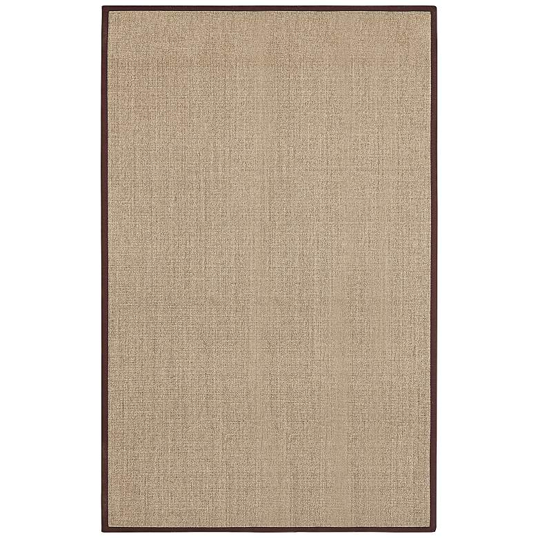 Marble Sisal with Brown Border 5x8 Area Rug