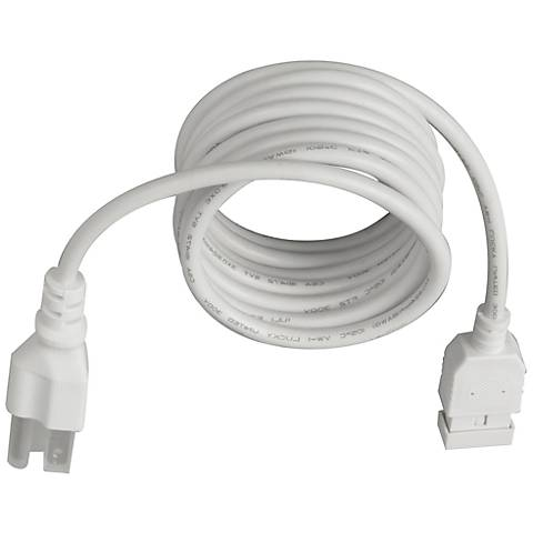 "MXInterLink4 White 72"" Under Cabinet Light Power Cord"
