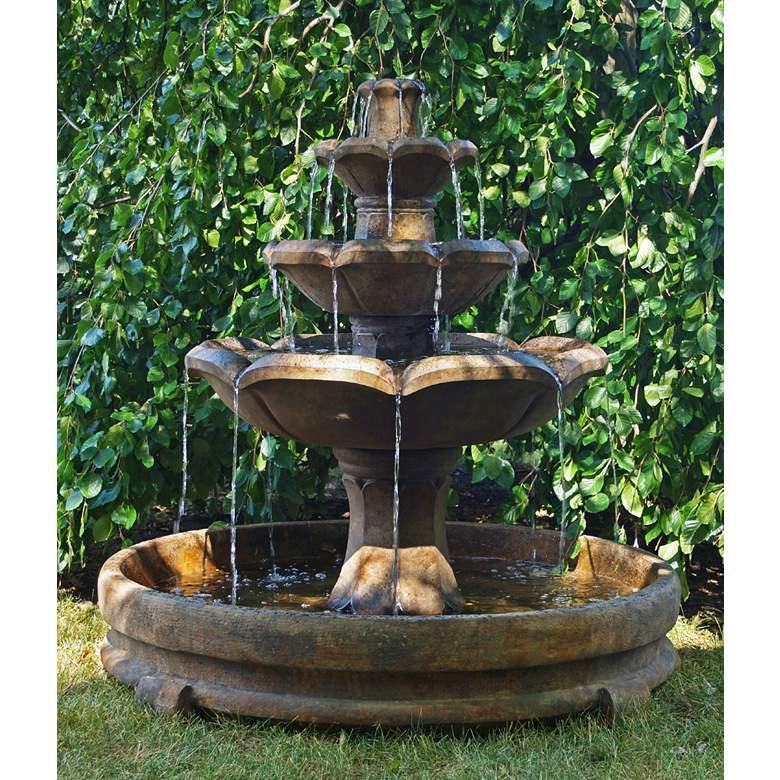 """Montreux 51"""" High 4-Tier Garden Fountain by Henri Studio"""
