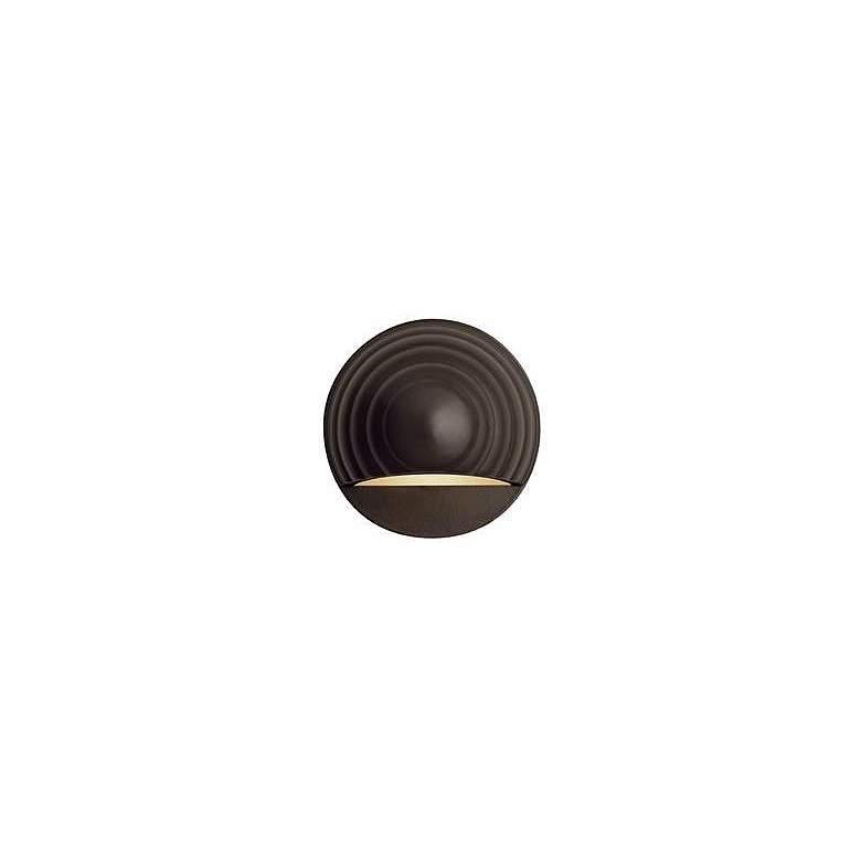 Hinkley Bronze Round Eyebrow 12 Volt LED Deck Light
