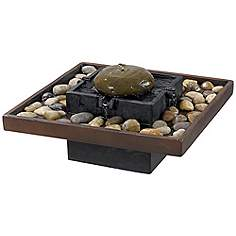 Bliss Two Tone Bronze Indoor 9 High Table Fountain