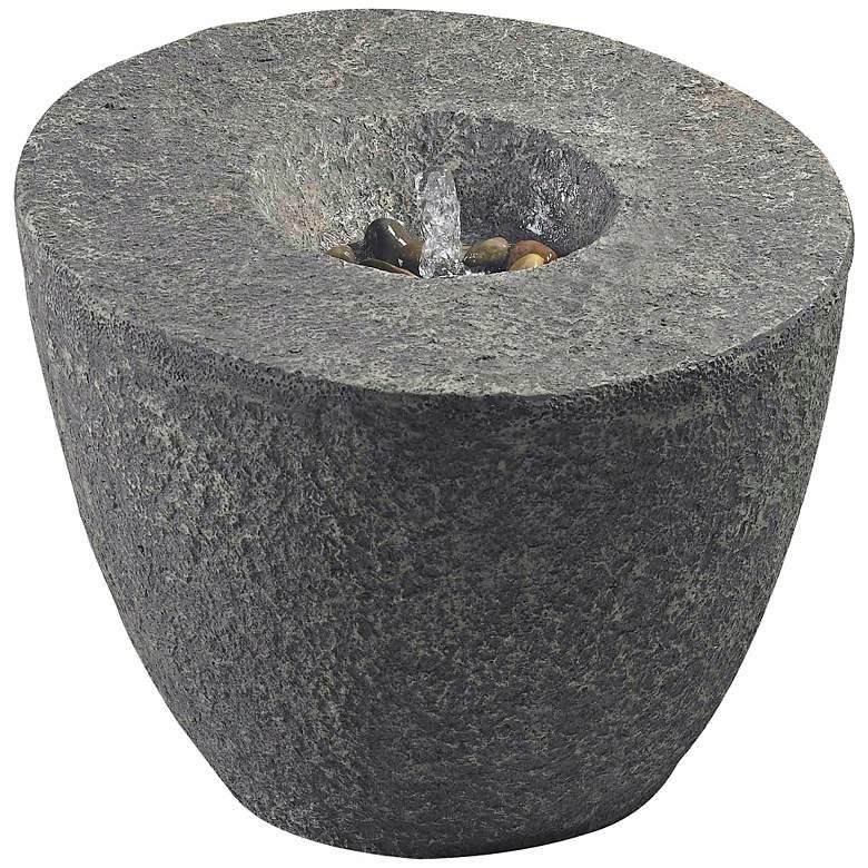 """Magma 24"""" High Stone Finish Modern Bubbler Fountain"""
